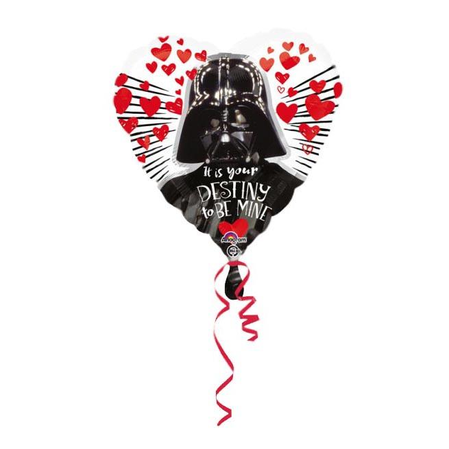 Folienballon Darth Vader Herzform