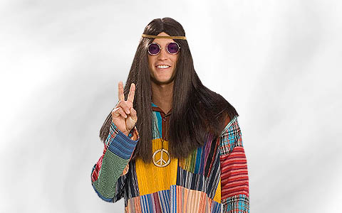 60s 70s Hippie Costume Men