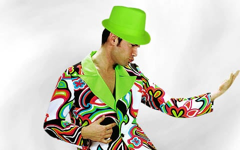 80er Neonfarbene Kleidung