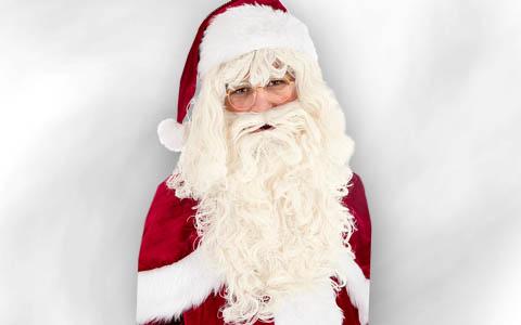 Weihnachtsmann Bart & Perücke