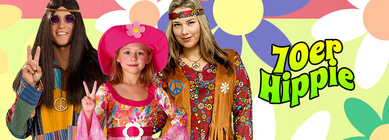 70er Jahre Hippie Kostüme