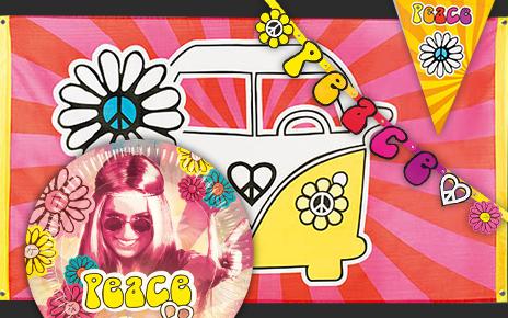 Hippie Party Deko