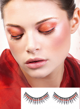 Rhinestone black red Starlet Eye Lashes