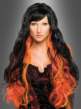Flaming Wig black orange