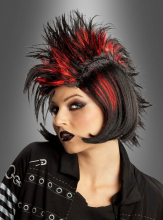 80s Punk Wig red black