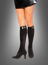 Velvet Knee Highs Black