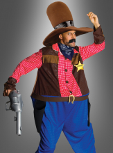 Dicker Sheriff Spaßkostüm mit Riesenhut