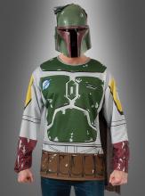 Original STAR WARS Boba Fett Shirt mit Maske Erw.