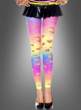 Tattered Rainbow Spandex Leggings