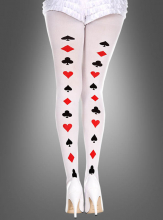 Poker Cards Backseam Pattern Pantyhose