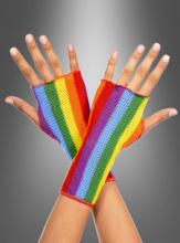Fingerless Rainbow Gloves
