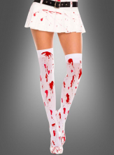 Malice's Stockings with blood white