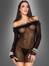 Transparent Lace Longshirt with G-String