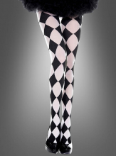 Black and white Diamond Print Tights