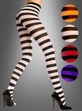 Opaque wide stripes tights, choose color