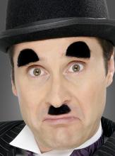 Stummfilmstar Bart und Augenbrauen Set