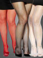 Tights fishnet black plus size