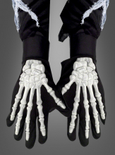 Skeleton gloves adult