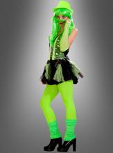80er Jahre Neon Punk Kleid