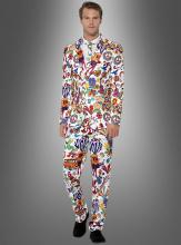 Bunter Anzug Hippie Style 3-teilig