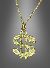 Pimp Necklace Dollar gold