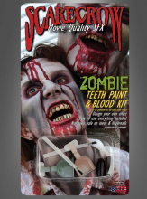 Zombie Teeth Paint and Blood