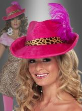 Pimp Hut pink mit Feder