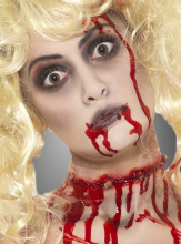 Zombie Schmink Set mit Blutkapseln