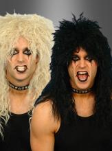 Rocker Rockstar Perücke Heavy Metal