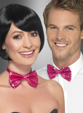 Bow Tie pink with Sequins