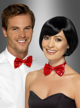 Red Sequin Bowtie