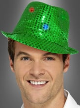 Green Sequin Hat Light Up