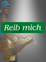 REIB MICH Rub me Stencil