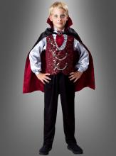 Edles Dracula Kostüm für Kinder