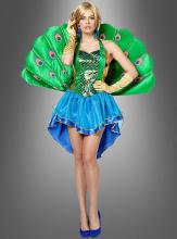 Pfau Kostüm mit Pfauenschwanz