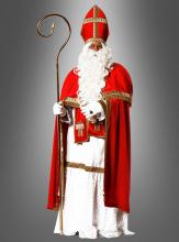Luxus Nikolaus Kostüm aus Plüsch