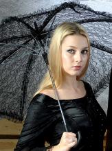 Gothic Spitzenschirm weiß oder schwarz