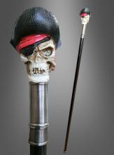Deluxe Gehstock Pirat Skull