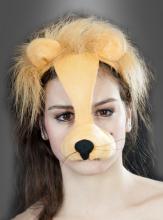 Löwenkostüm Zubehör Maske mit Sound