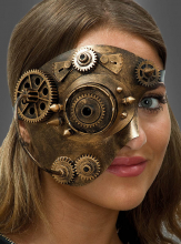 Steampunk Eyemask with Killer Revets
