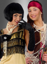 Perlenkette Modeschmuck deluxe creme