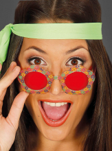 Round Flower Glasses for Hippie Costumes