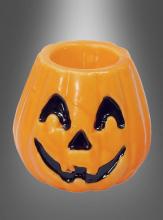 Kürbis Kerze Halloweendeko 10 cm