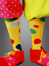 Clown Stockings with Dots