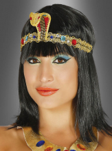 Golden Cleopatra Snake Headpiece with Gems