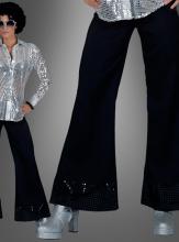 Schwarze Paillettenhose für Damen