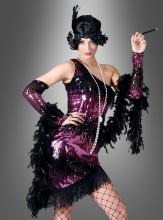 Charleston dress Flapper Costume pink
