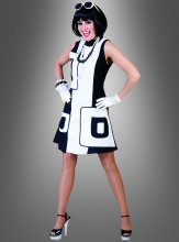 60s Mod Blacky´n White Dress
