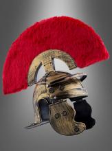 Römer Helm mit rotem Kamm Centurio