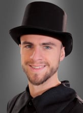 Deluxe Satin Top Hat black